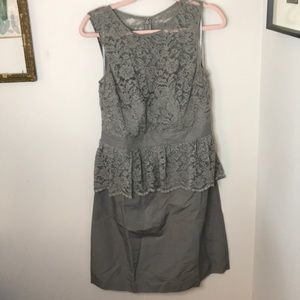 Tevolio Gray NWOT Lace Cocktail Dress 14 Wedding